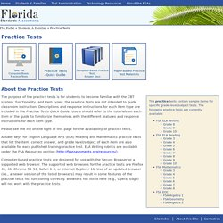 Florida Standards Assessments: Practice Tests