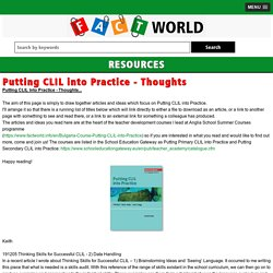 Putting CLIL into Practice - Thoughts - factworld.info