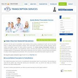 Family Practice Transcription Service
