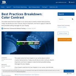 Best Practices Breakdown: Color Contrast – Daktronics