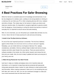 4 Best Practices For Safer Browsing