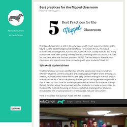 Best practices for the flipped classroom