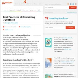 Best Practices of Combining Typefaces - Smashing Magazine