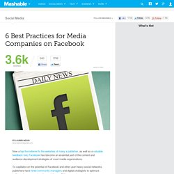 6 Best Practices for Media Companies on Facebook