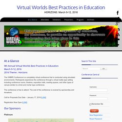 Virtual Worlds – Best Practices in Education