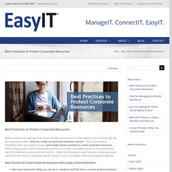Best Practices to Protect Corporate Resources - EasyIT