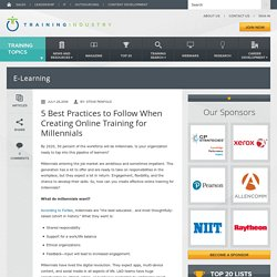 5 Best Practices to Follow When Creating Online Training for Millennials