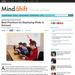 Best Practices for Deploying iPads in Schools