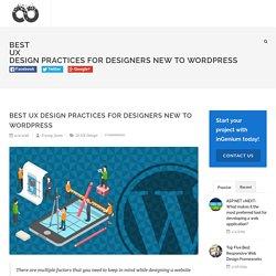 Best UX Design Practices for Designers New to WordPress