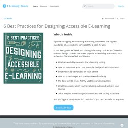 6 Best Practices for Designing Accessible E-Learning