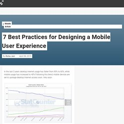 7 Best Practices for Designing a Mobile User Experience