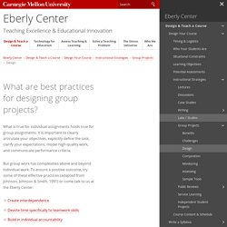 What are best practices for designing group projects?-Teaching Excellence & Educational Innovation
