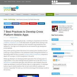 7 Best Practices to Develop Cross Platform Mobile Apps