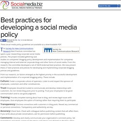 Best practices for developing a social media policy