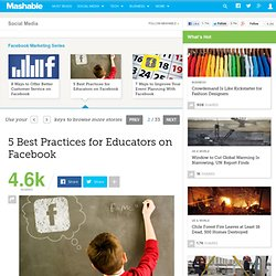 5 Best Practices For Educators On Facebook