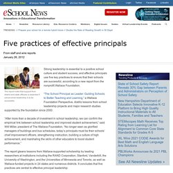 Five practices of effective principals