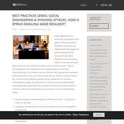 Best Practices Series: Social Engineering & Phishing Attacks