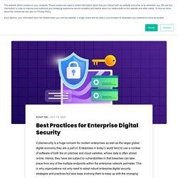 Best Practices for Enterprise Digital Security