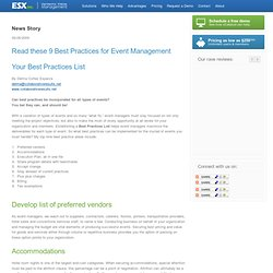 Read these 9 Best Practices for Event Management - ESX Inc.