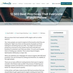 12 SEO Best Practices That Everyone Should Follow