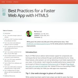 HTML5 Rocks - Best Practices for a Faster Web App with HTML5