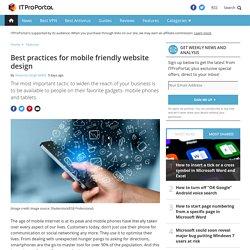 Best Practices for Mobile Friendly Website Design