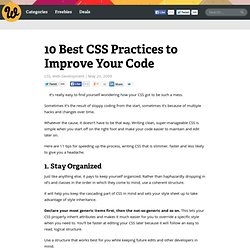 10 Best CSS Practices to Improve Your Code