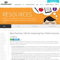 Best Practices: Tips for Improving Your Online Courses in 2013