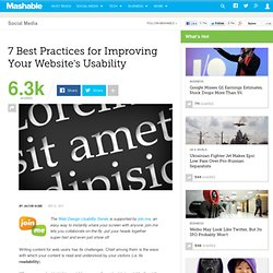 7 Best Practices for Improving Your Website's Usability