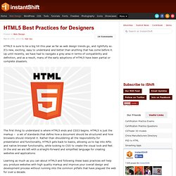 HTML5 Best Practices for Designers