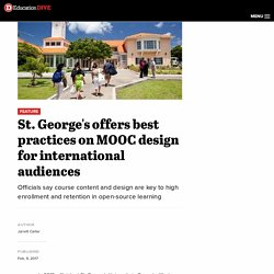St. George's offers best practices on MOOC design for international audiences