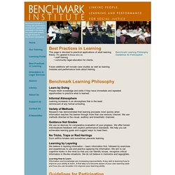 Best Practices in Learning - adult learning theory