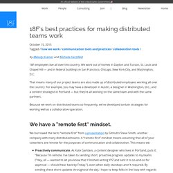 18F's best practices for making distributed teams work