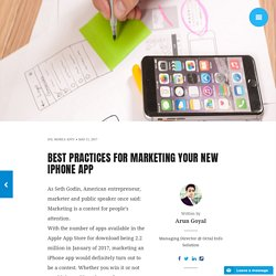 Best Practices for Marketing Your New iPhone App