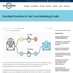 Five Best Practices to Test Your Marketing Email, A/B Testing