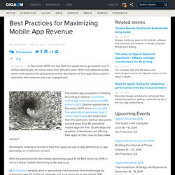 Best Practices for Maximizing Mobile App Revenue