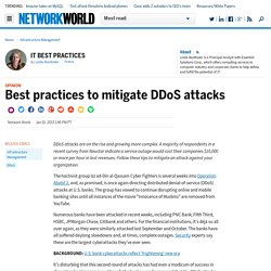 Best practices to mitigate DDoS attacks