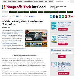 11 Website Design Best Practices for Nonprofits