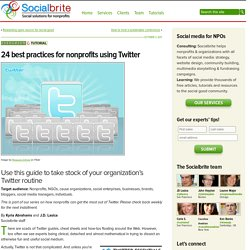 24 best practices for nonprofits using Twitter