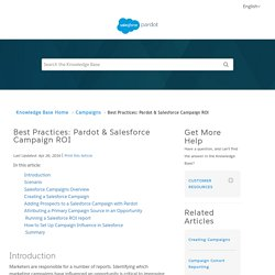 Best Practices: Pardot & Salesforce ...