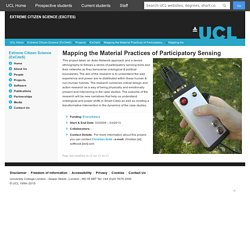 Mapping the Material Practices of Participatory Sensing