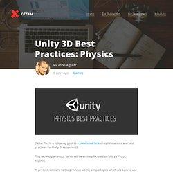(Saving...) (Saving...) Unity 3D Best Practices: Physics
