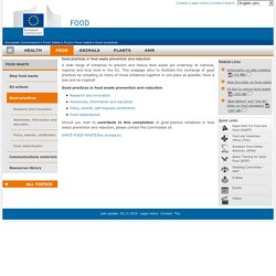 EUROPE 28/11/14 Good practices in food waste prevention and reduction