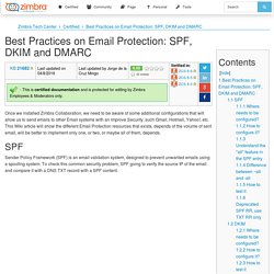 Best Practices on Email Protection: SPF, DKIM and DMARC - Zimbra