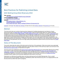 Best Practices for Publishing Linked Data