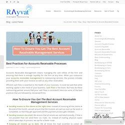 Best Practices for Accounts Receivable Processes