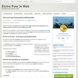 Ecrire sur le web: best practices rédactionnelles