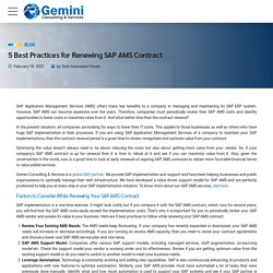 5 Best Practices for Renewing SAP AMS Contract