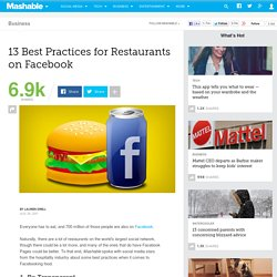 13 Best Practices for Restaurants on Facebook