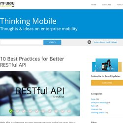 10 Best Practices for Better RESTful API